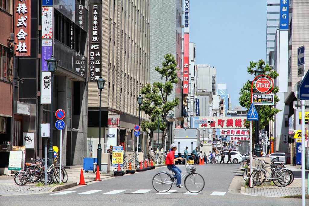 Cyclist in Japan