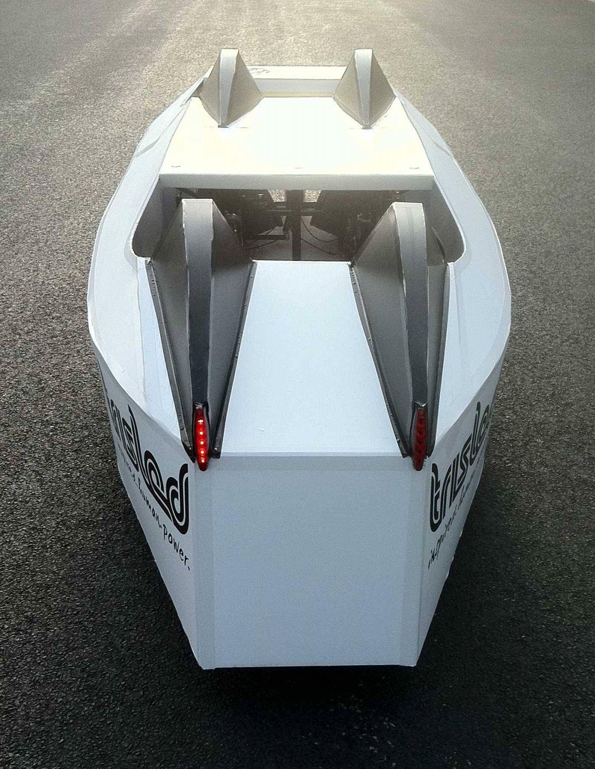Velomobile rear view