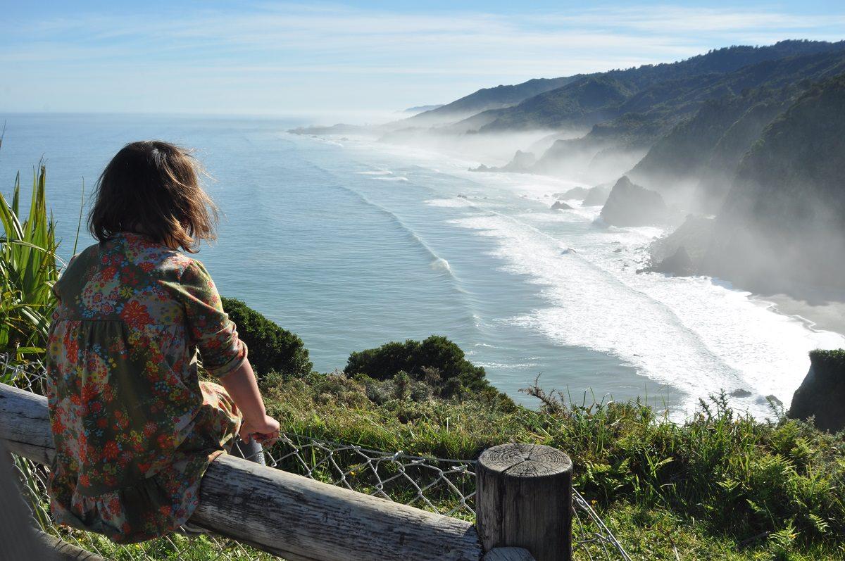 Maïa enjoying the view