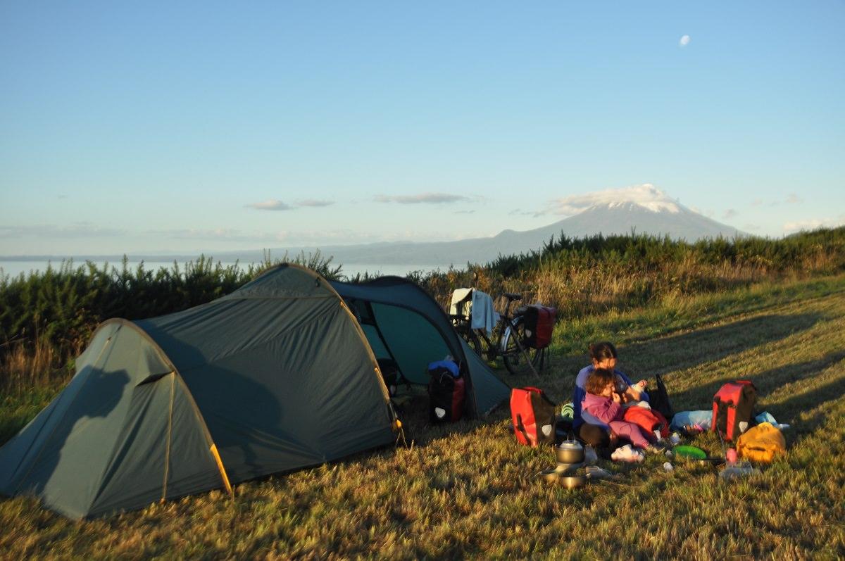 Camping and making food