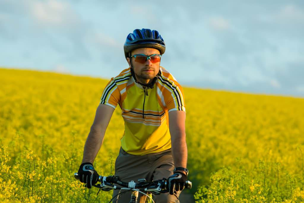 Cyclist thinking