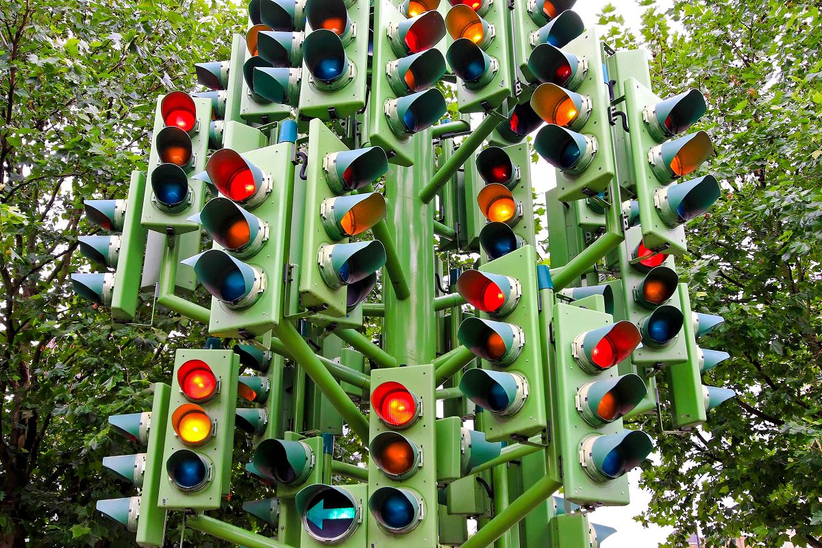 Lots of traffic lights