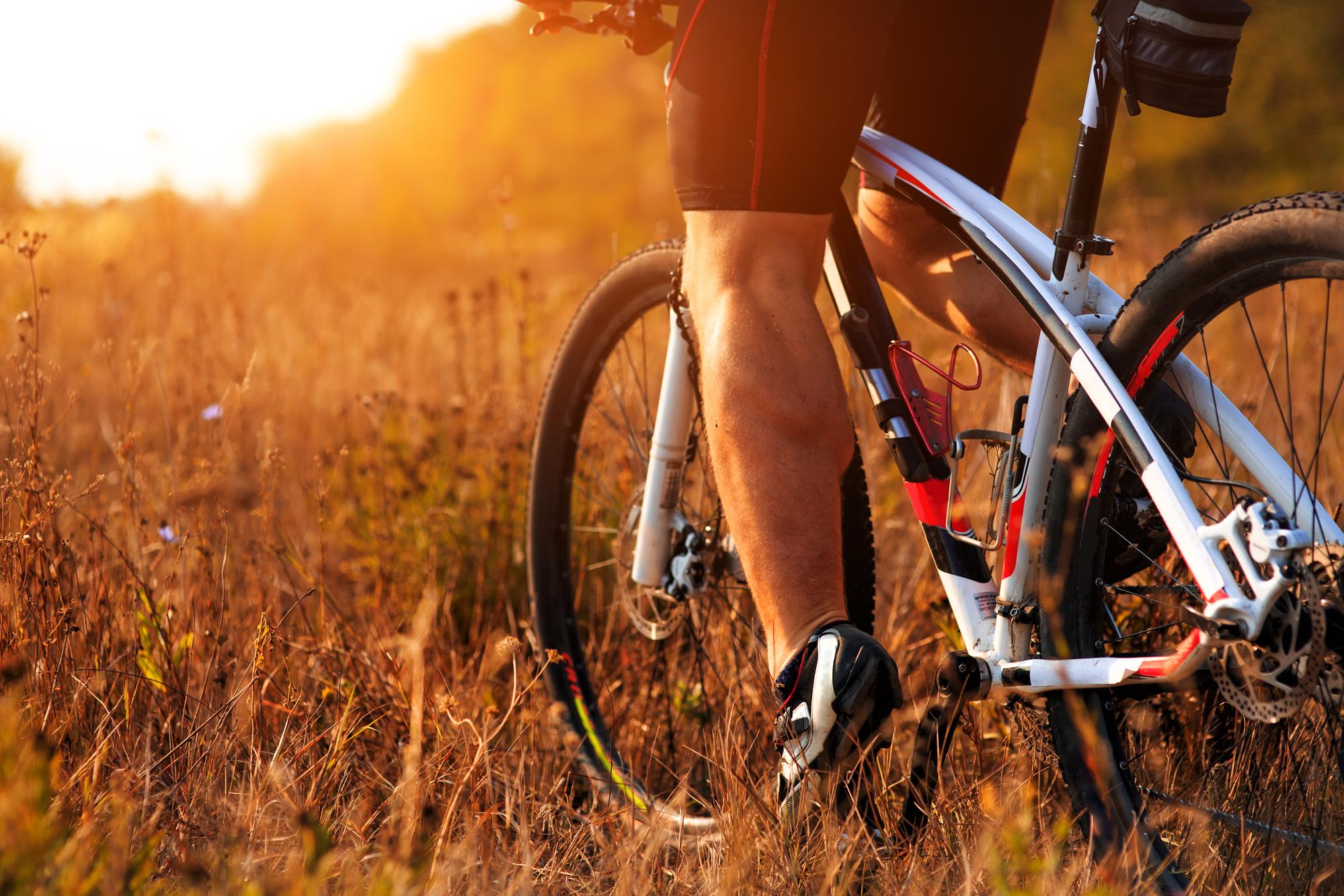 road bike in sunset