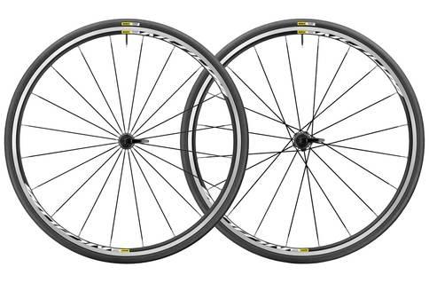 Mavic Aksium Elite 700c Clincher WTS Wheelset 2017 Black White Aluminium 28 Hole