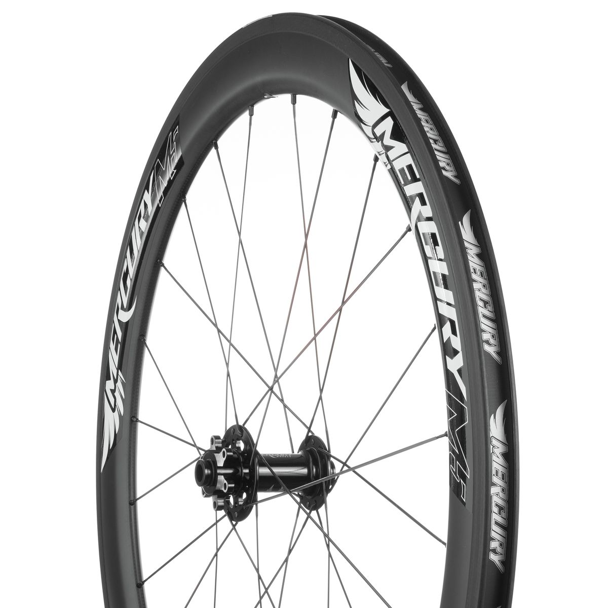 Mercury Wheels M5 Carbon Disc Wheelset Clincher Black 12 15x100 12x142mm Shimano SRAM