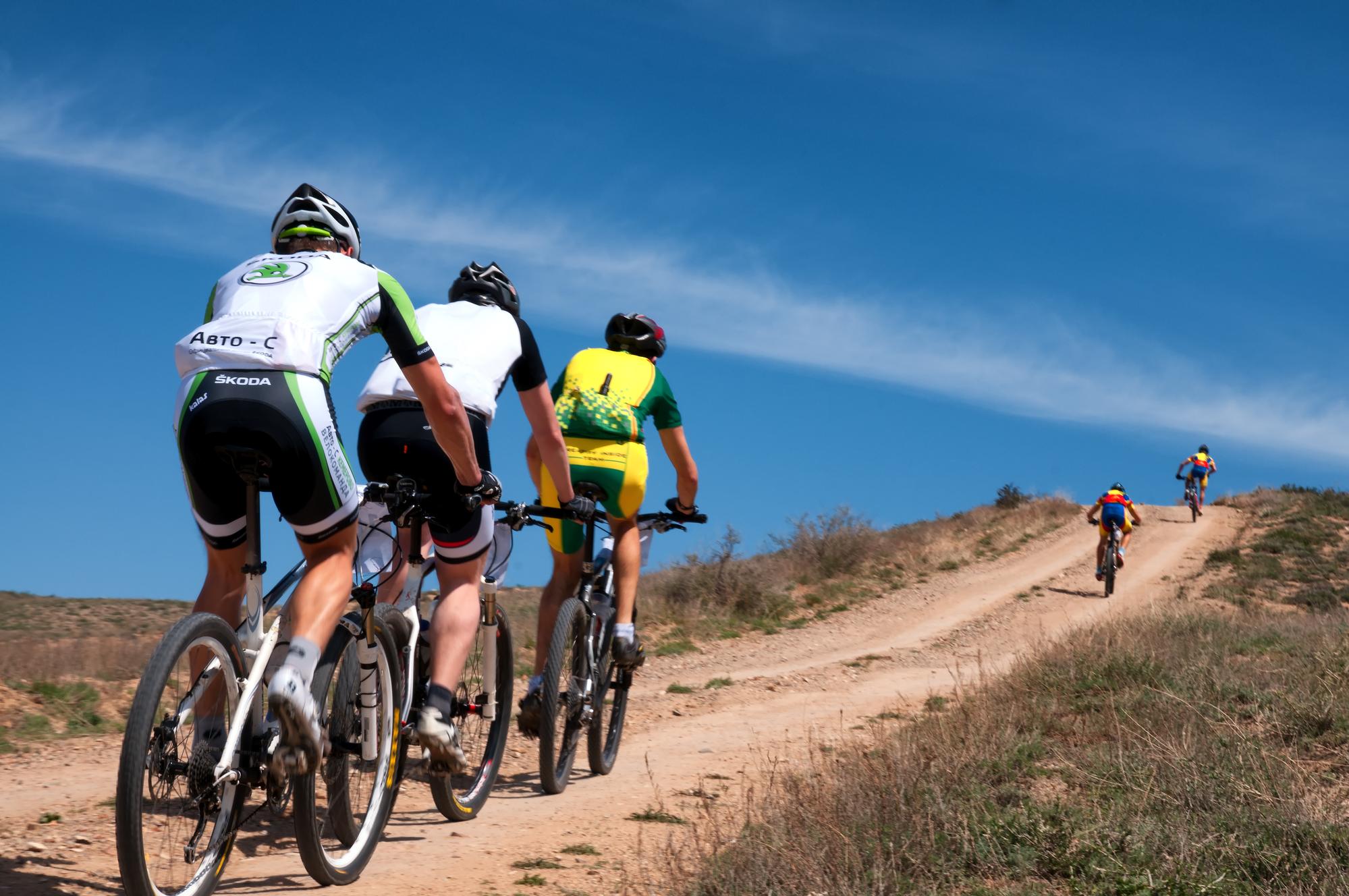 une course de vélo de montagne