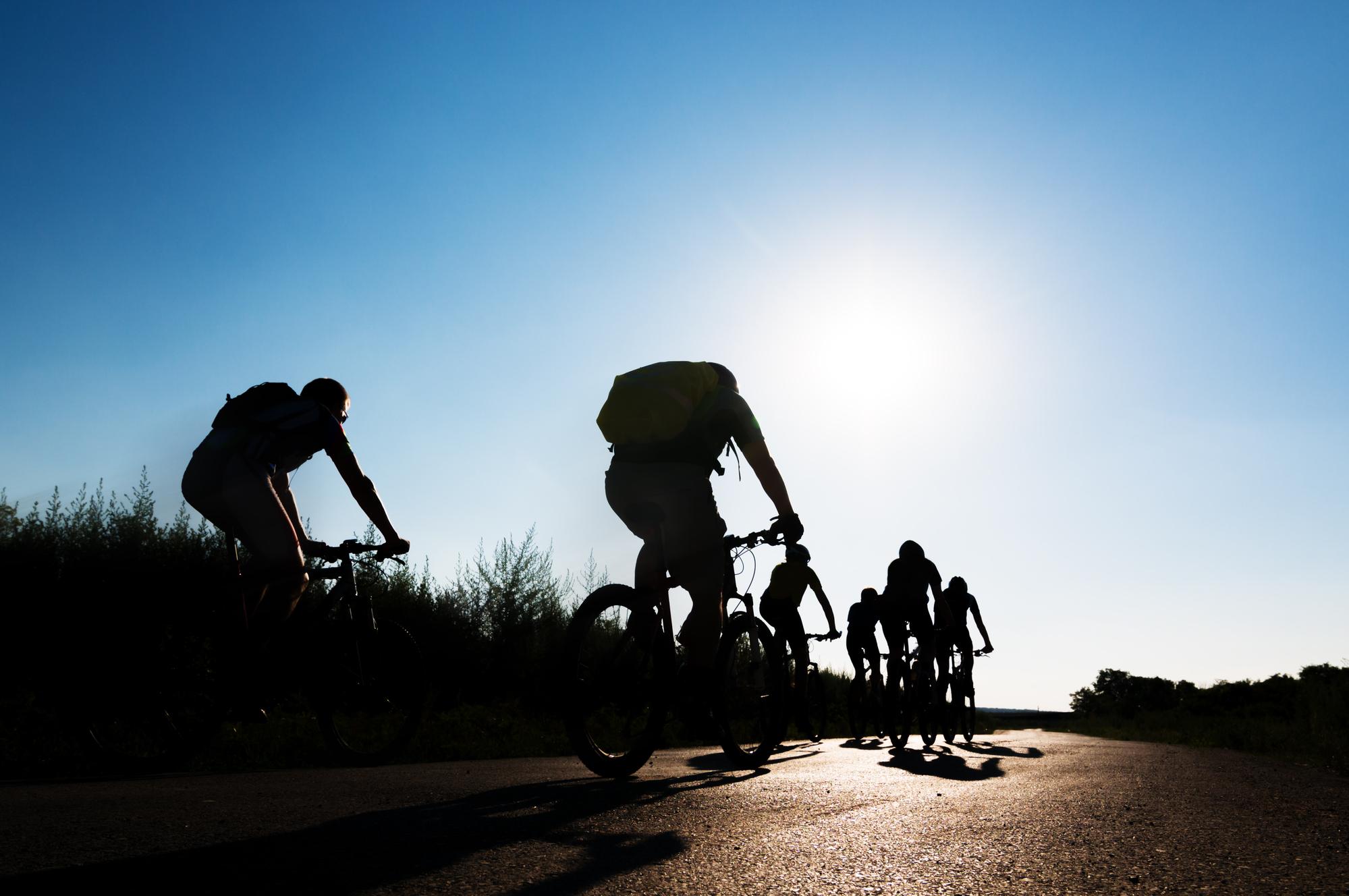 group biking