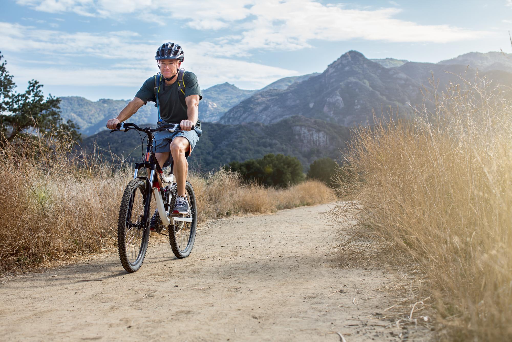 mountain biking in the wild