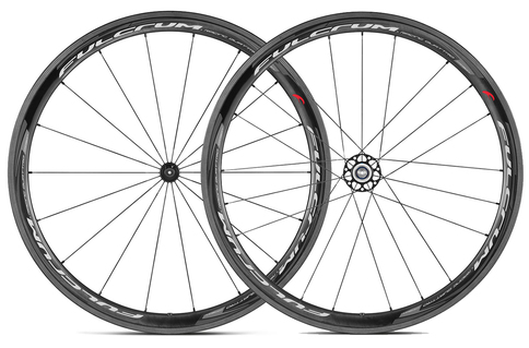 Fulcrum Racing Quattro Carbon Clincher 700C QR Wheelset Black White Shimano