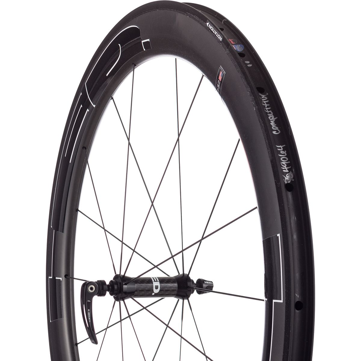HED Jet 9 Plus Carbon Wheelset Clincher Black 18 24 Spoke Shimano SRAM