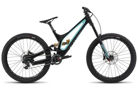 Specialized Works Demo 8 FSR Carbon 2018 Blue Green