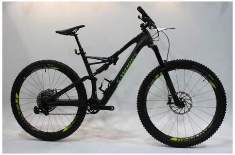 Specialized Works Stumpjumper FSR Carbon 2018 Ex-Demo Ex-Display Black Green