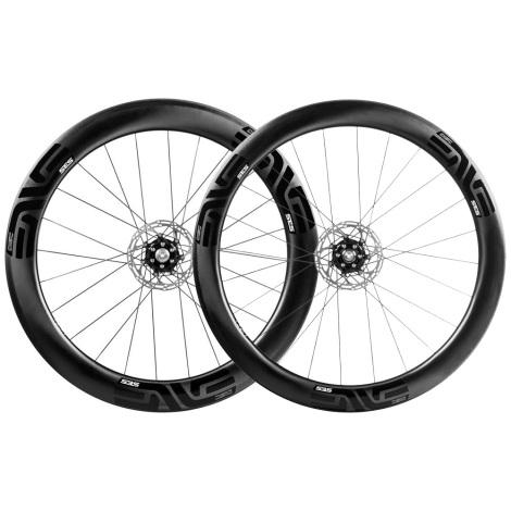 ENVE 5.6 SES Disc Clincher Wheelset Chris King Hubs Shimano Pair 11 Speed Clincher 700c Thru Axles 12 142