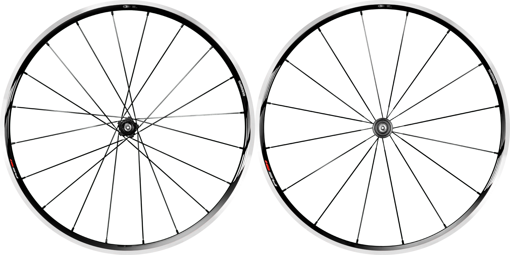 Shimano Pair Wheels RS21 Clincher Blk Grey 8 9 10 11 Shim