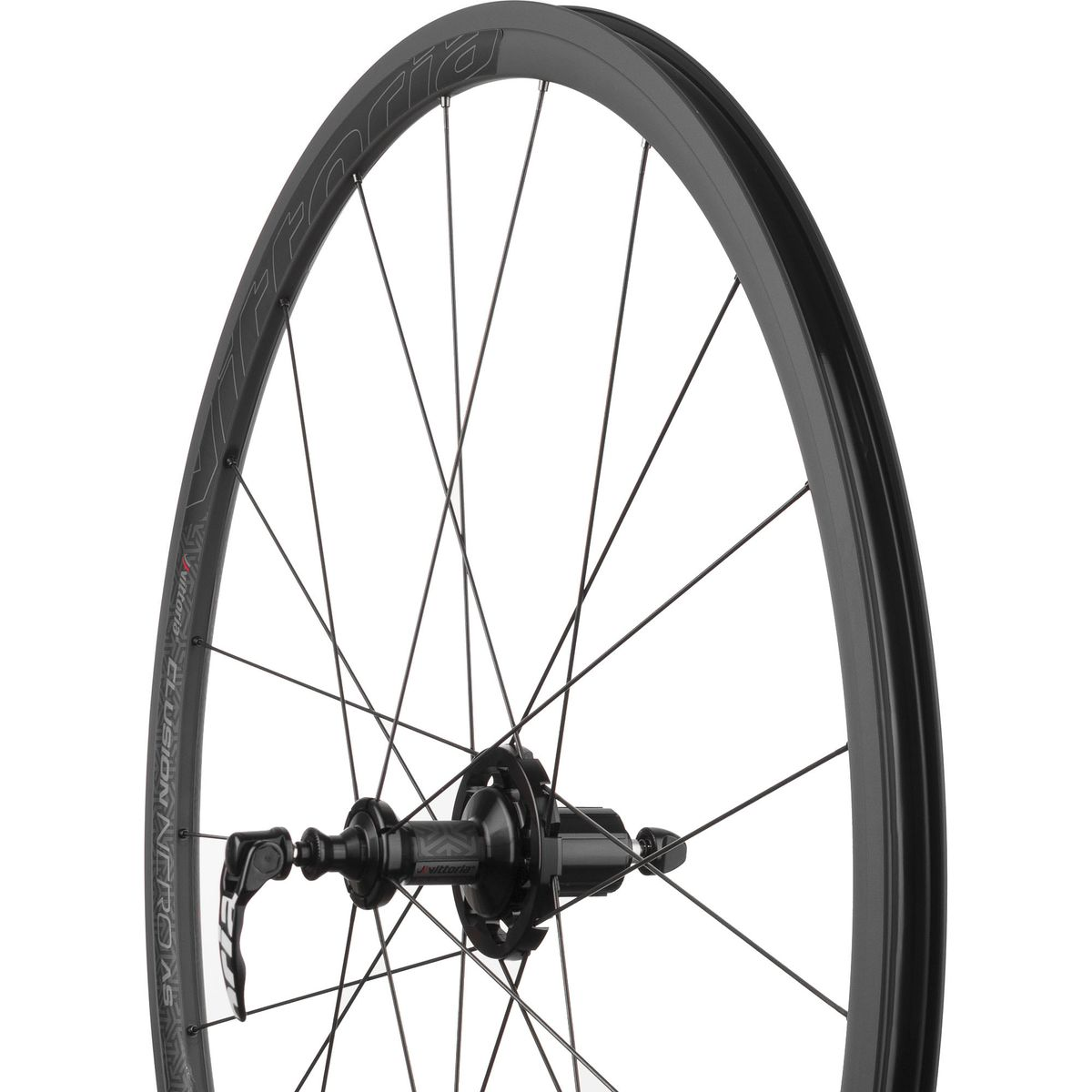 Vittoria Elusion Nero Wheelset Clincher Black SRAM Shimano