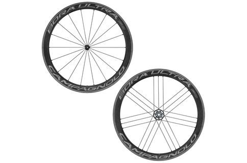 Campagnolo Bora Ultra 50 Clincher Rim Brake 700c Wheelset Shimano Freehub Black Grey Carbon