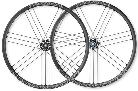 Campagnolo Zonda Clincher AFS Disc Brake 700c Wheelset Shimano Freehub Black White Aluminium