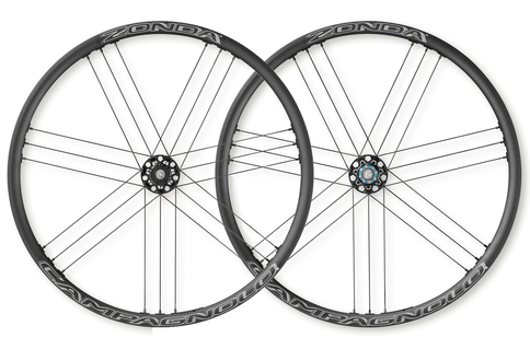 Campagnolo Zonda Clincher AFS Disc Brake QR 700c Wheelset Campagnolo Freehub Black White Aluminium