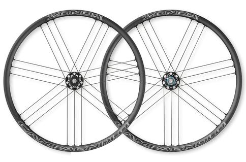 Campagnolo Zonda Clincher AFS Disc Brake QR 700c Wheelset Shimano Freehub Black White Aluminium