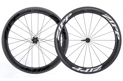 Zipp 404 Firecrest Clincher Rim Brake 700c Wheelset Shimano Freehub Black White Carbon