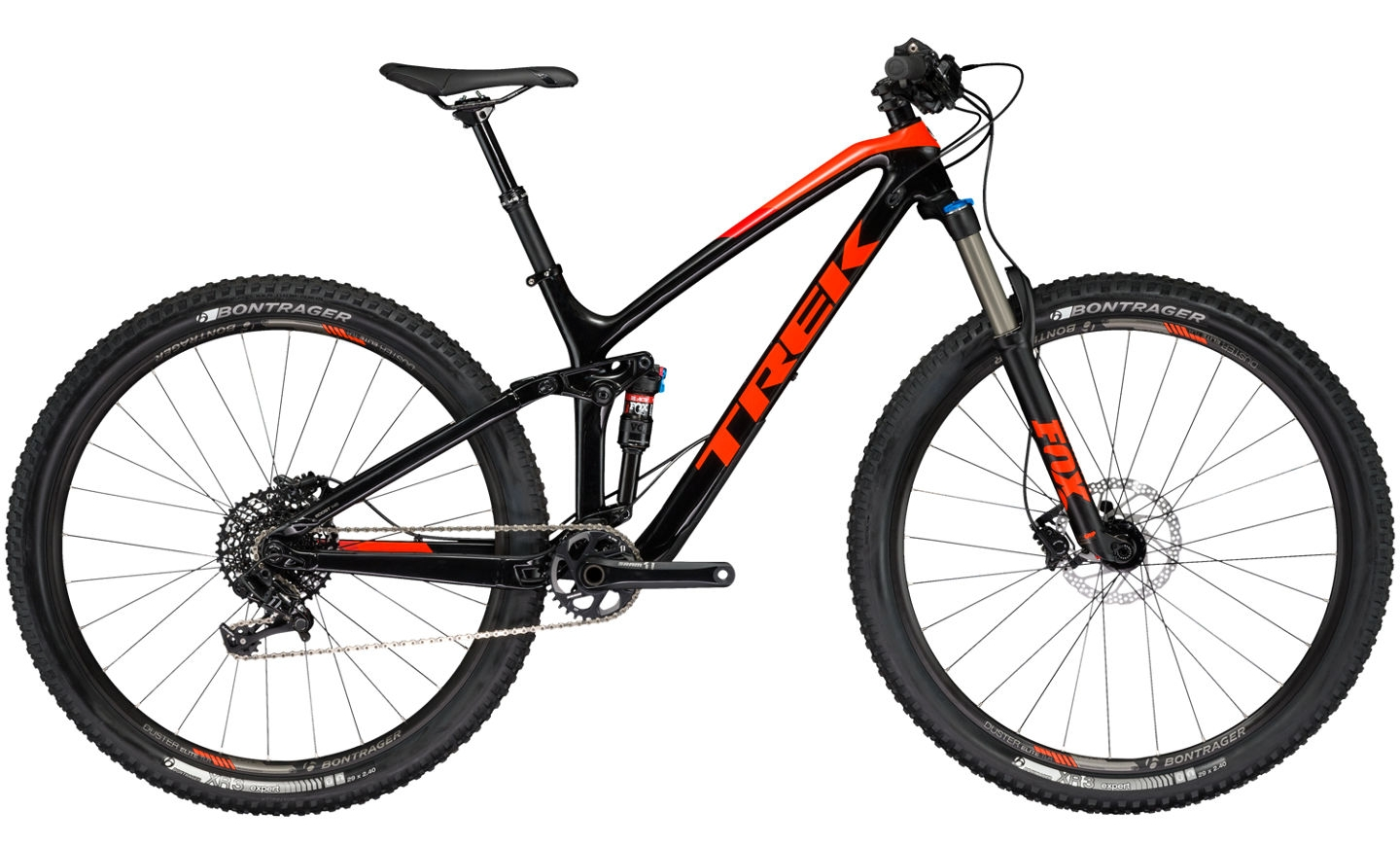 Trek Fuel EX 9.7 2017 18 5 Zoll trek black roarange