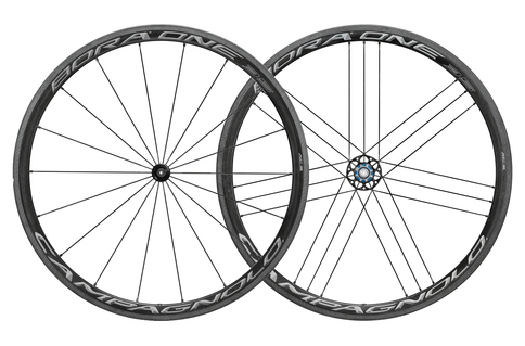 Campagnolo Bora One 35 Clincher AFS Disc Brake 700c Wheelset Shimano Freehub Black Grey Carbon