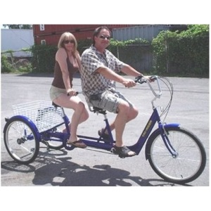 Belize Tri-Rider Twin 6 Speed 24 TANDEM Special Needs Electric Adult Tricycle Demo Unit