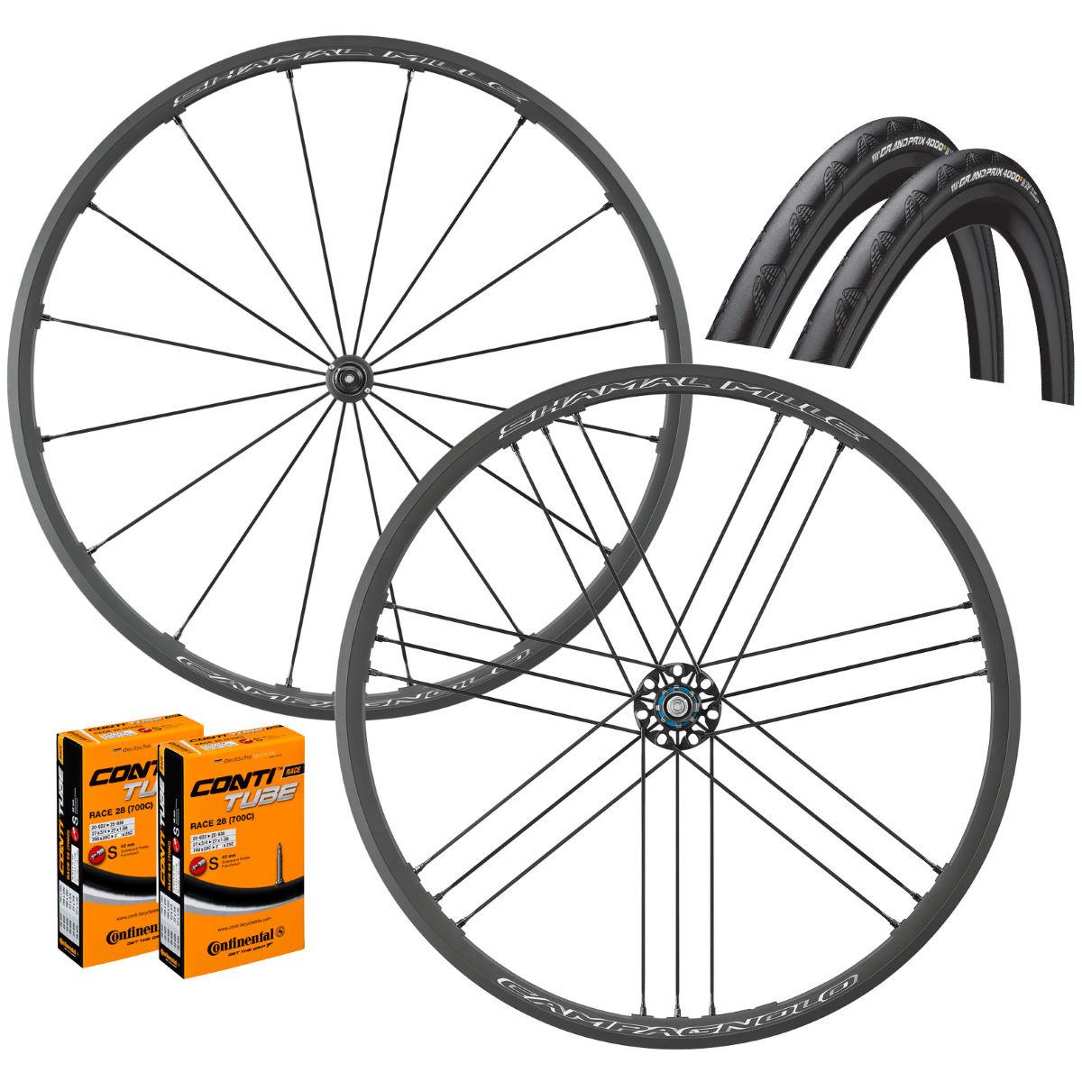 Campagnolo Shamal Mille C17 Clincher Wheels GP4000s II Bundle Wheel Sets