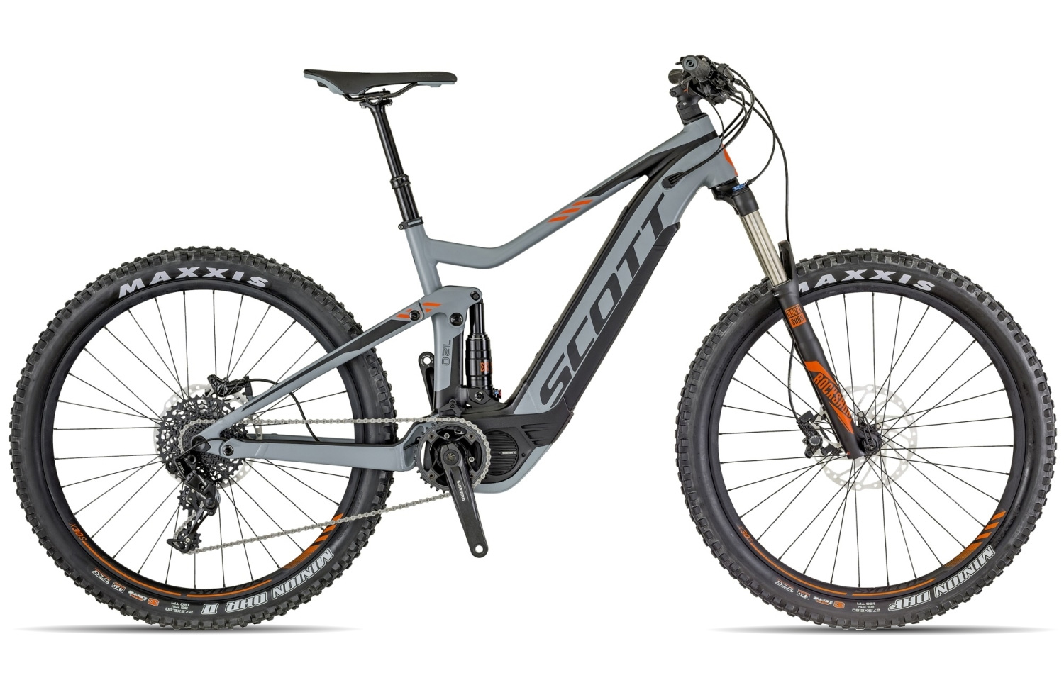 Scott E-Genius 720 2018 grey black orange