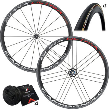Campagnolo Bora Ultra 35 Clincher Wheels amp Tyres Bright Label 25c