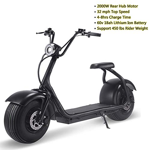 MotoTec Electric Fat Tire Scooter Moped