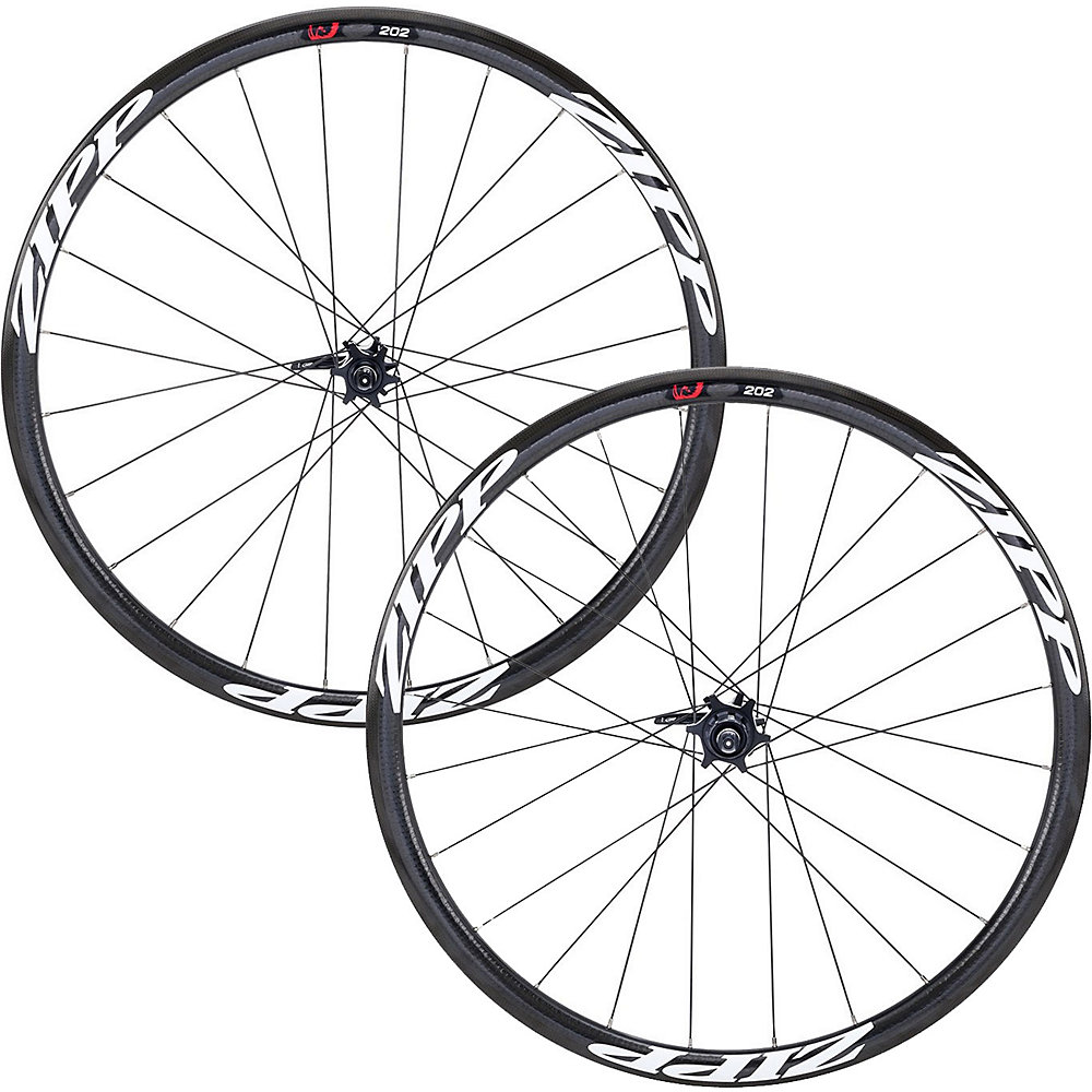 Zipp 202 Clincher Disc Wheelset Black-White Shimano