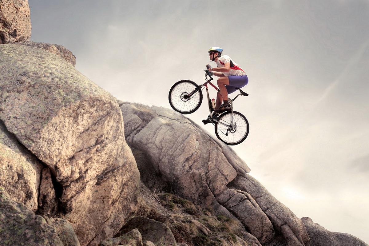 Uphill biking
