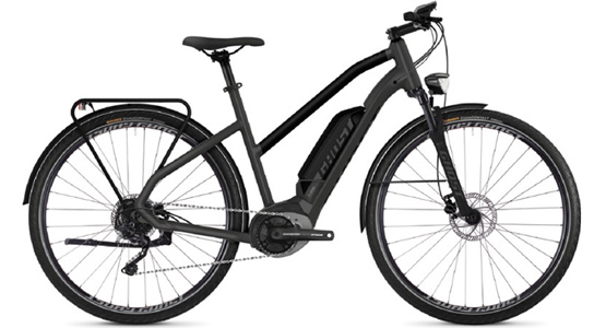 GHOST Hybride Square Trekking B1.8 AL Step-Through Electric Bike