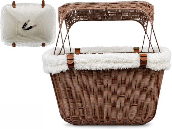Petsafe Happy Ride Wicker Bicycle Basket For Dogs And Cats
