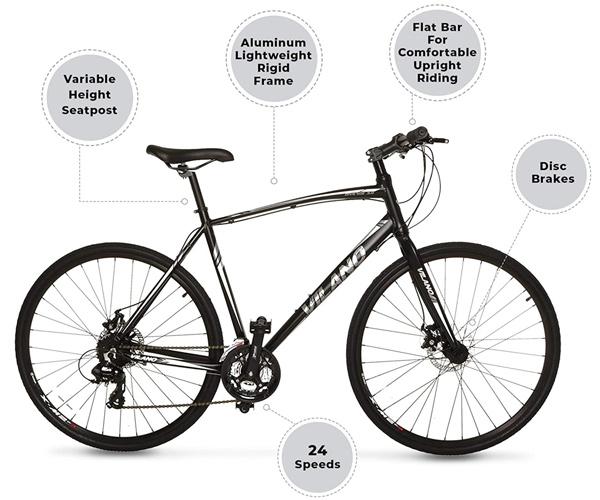 Vilano 3.0 Diverse 24-speed Hybrid Bike