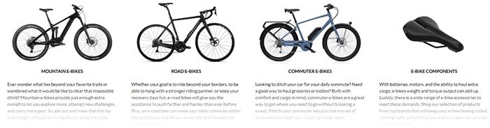 Electric Bikes on Jenson USA