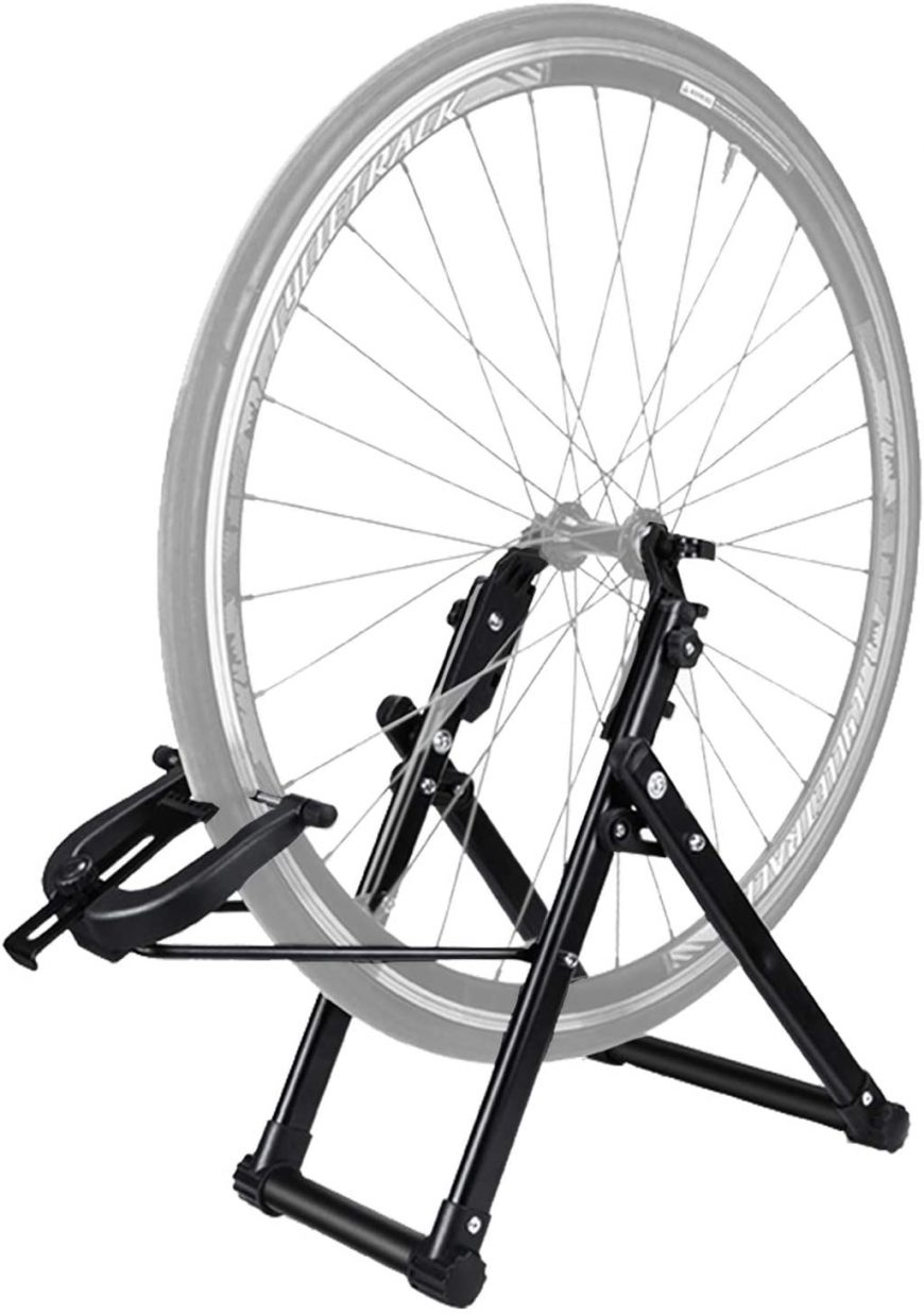 Wheel In A Truing Stand