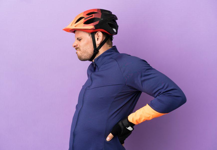 Cyclist Suffering From Backache