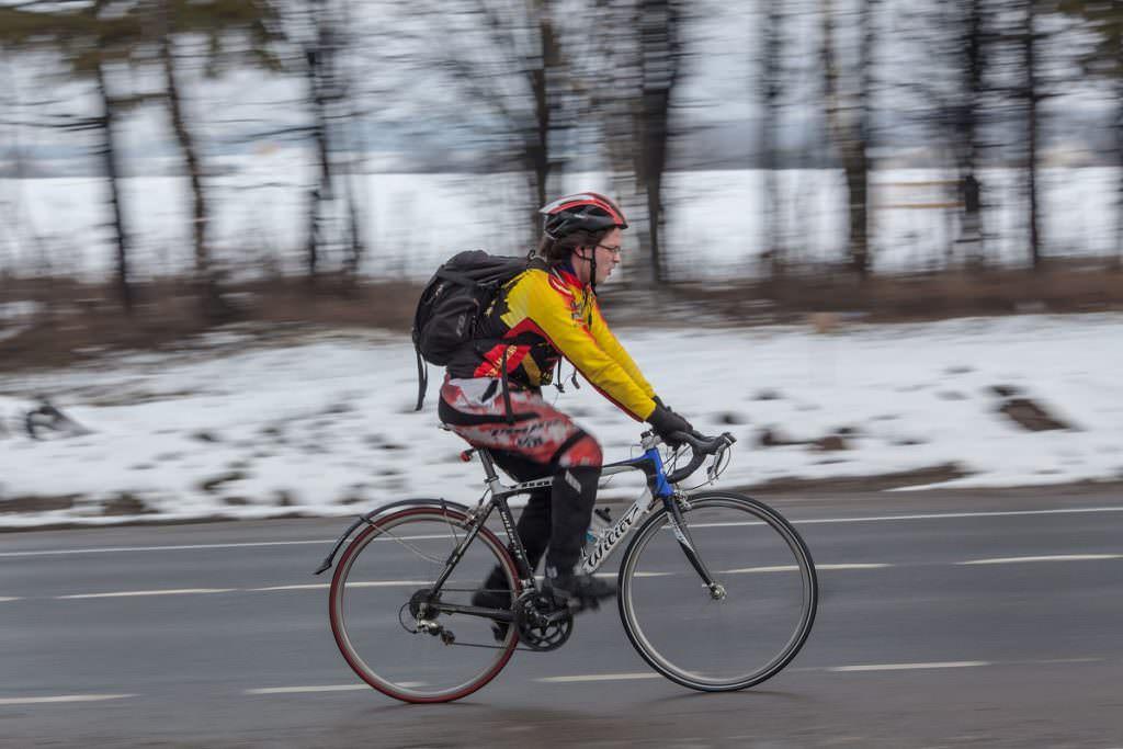 Winter road bike training